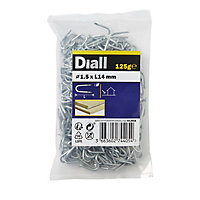 Diall Wire staples (L)14mm 125g (Dia)1.5mm, Pack
