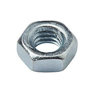 Diall M4 Carbon steel Hex nut, Pack of 20