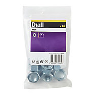 Diall M16 Carbon steel Lock Nut, Pack of 10
