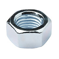 Diall M16 Carbon steel Hex lock nut, Pack of 10