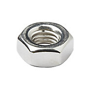 Diall M10 Stainless steel Lock Nut, Pack of 10