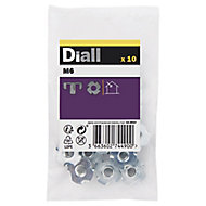 Diall M6 Carbon steel Tee Nut, Pack of 10