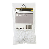 Diall White Snap cap, Pack of 100