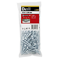 Diall Zinc-plated Carbon steel Metal Screw (Dia)5.5mm (L)38mm, Pack of 100