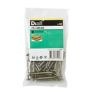Diall Carbon steel Decking screw (Dia)5mm (L)50mm, Pack of 50