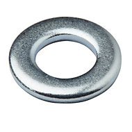 Diall M6 Carbon steel Flat washer, Pack of 20