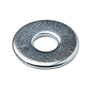Diall M4 Carbon steel Flat washer, Pack of 100