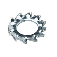 Diall M4 Steel Shakeproof washer, Pack of 10