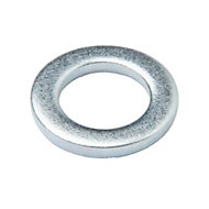 Diall M5 Carbon steel Flat washer, Pack of 20
