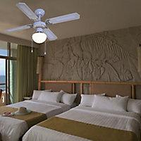 Colours Lari Traditional Matt White Ceiling fan light