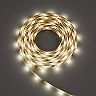 Colours Driggs Mains-powered White LED Strip light starter kit IP20 400lm (L)5m