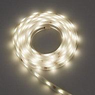 Colours Emmett Mains-powered LED White Strip light IP65 400lm (L)3m