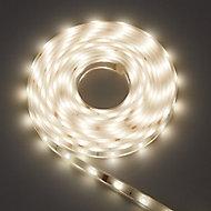 Colours Emmett Mains-powered LED White Strip light IP65 400lm (L)5m