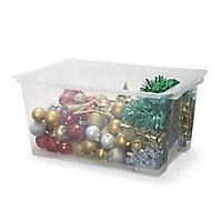Form Kaze Clear 43L Plastic Large Storage box