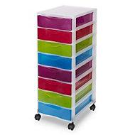 Kontor Multicolour 40L 8 drawer Tower unit