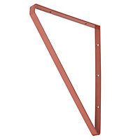 Form Clever Red Steel Shelf bracket (D)200mm