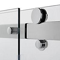 GoodHome Naya Sliding Walk-in Shower Panel (H)1950mm (W)1200mm