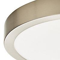 Aius Brushed Chrome effect Ceiling light