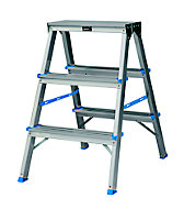 3 tread Aluminium Step Ladder (H)0.65m