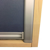 Blue Blackout Roof window blind (W)78cm (L)140cm