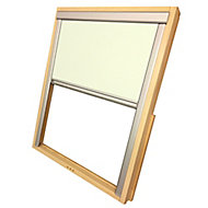 Beige Blackout Roof window blind (W)55cm (L)78cm