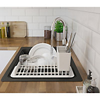 GoodHome Romesco Black Composite quartz 1 Bowl Sink & drainer