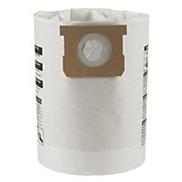 Mac Allister White Vacuum filter bag 30L, Pack of 5