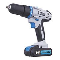 Mac Allister Cordless 18V 1.5Ah Lithium-ion Combi drill 2 batteries MSHD18S-2-Li
