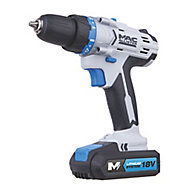Mac Allister Cordless 18V 1.5Ah Lithium-ion Brushed Drill driver 2 batteries MSDD18-Li-2