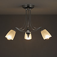 Trivia Chrome effect 3 Lamp Ceiling light