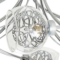 Carmenta Brushed Chrome effect 6 Lamp Ceiling light