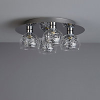 Carmenta Brushed Chrome effect 4 Lamp Ceiling light