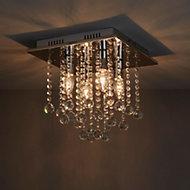 Libertas Chrome effect 4 Lamp Ceiling light
