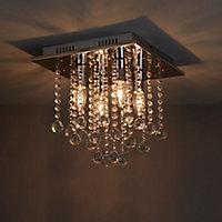 Libertas Brushed Chrome effect 4 Lamp Ceiling light