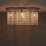 Carna Chrome effect 5 Lamp Ceiling light