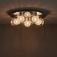Camenae Brushed Chrome effect 5 Lamp Ceiling light