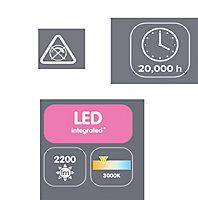 Annellus Chrome effect 3 Lamp Ceiling light