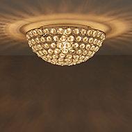 Mantus Brushed Chrome effect Ceiling light