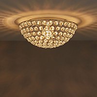 Mantus Brushed Chrome effect Ceiling light