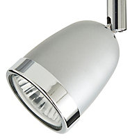 Apheliotes Silver effect Mains-powered 2 lamp Spotlight