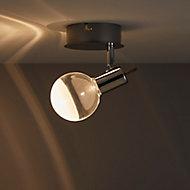 Panacea Chrome effect Mains-powered Spotlight