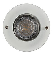 Colours Brushed Chrome effect Fixed LED Downlight 4.9W IP20