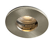 Colours Brushed chrome LED Fixed Recessed downlight 5 W IP65
