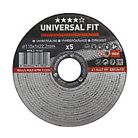 Universal Inox & metal Cutting disc (Dia)115mm, Pack of 5
