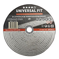 Universal (Dia)230mm Metal cutting disc, Pack of 5