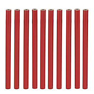 Red HB Carpenter Pencil, Pack of 10
