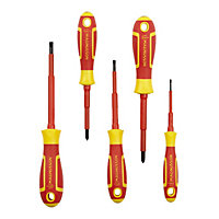 Magnusson 5 Piece Mixed VDE Screwdriver set
