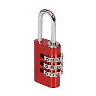 Smith & Locke Aluminium Combination Steel open shackle Padlock (W)21mm