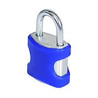 Smith & Locke Aluminium Cylinder Open shackle Padlock (W)21mm, Pack of 2