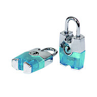 Smith & Locke Aluminium Cylinder Steel open shackle Padlock (W)24.5mm, Pack of 2
